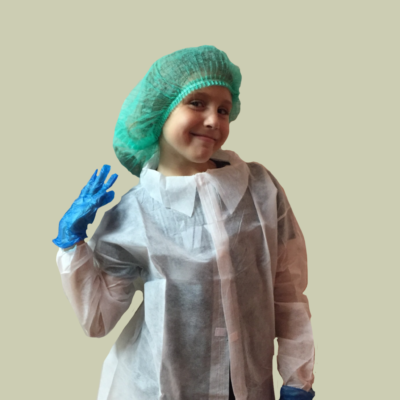 Batas de laboratorio desechables para niños